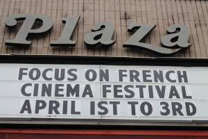 1 - The marquee at Bow Tie Criterion Cinemas announced the event weeks before the festival - Photo by Eve Comperiati