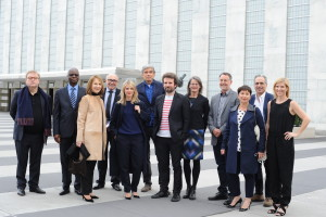 2 - The Guests and Panelists arriving at the UN for the special screening of the documentary Tomorrow (Demain)... - Photo by Stéphane Kossmann