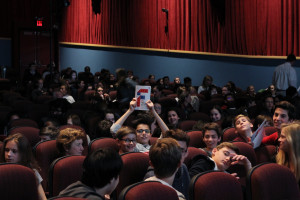 23 - Several students came back during the weekend to watch more movies! - Photo by Eve Comperiati