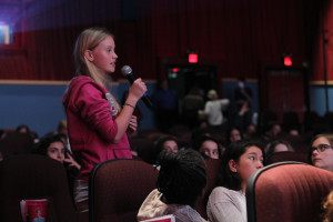 23.5 -A Q&A before and after the movie allowed students to engage with the Directors and Experts - Photo by Eve Comperiati