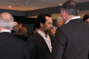 36 - ...and shared Champagne with Guests such as Matthew Rhys - Photo by Eve Comperiati