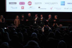 38 - and were announced on stage - Nathalie Baye - Cyril Dion - Carlos Chahine - Christian Carion - Matthew Rhys - Dr Claude Rosenthal - Dominique Besnehard - Photo by Eve Comperiati