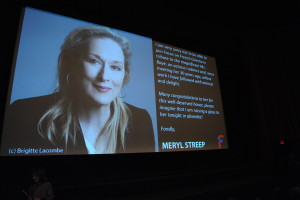 38.5 - Meryl Streep sent a special message to her friend Nathalie Baye, who received an award on Opening Night - photo by Stephane Kossmann