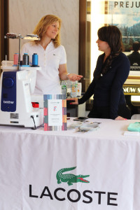 46 - The Lacoste embroidering booth was part of the many lobby events... - Photo by Eve Comperiati