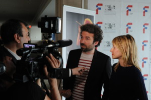 5.5 - Cyril Dion and Mélanie Laurent were interviewed by Canal+ - photo by Stephane Kossmann