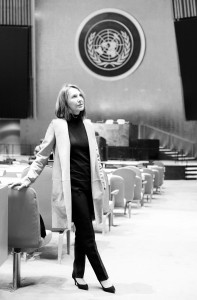 7 - Nathalie Baye in the UN conference room - Photo by Stéphane Kossmann