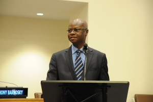 9 - ...for the Introduction by Paul Robert Tiendrébéogo, Permanent Representative of la Francophonie to the UN - Photo by Stéphane Kossmann