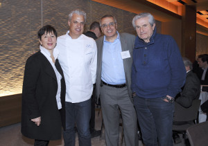 Chef Eric Ripert hosted the meeting at Le Bernardin, here with FFC Business Development Director Laurence Teinturier (credit - Stephane Kossmann)