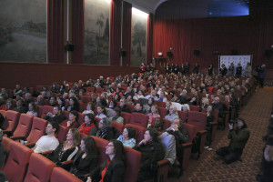 a sold-out audience has gathered for this unique screening of Un + Une (credit - Stephane Kossmann)