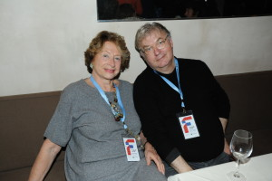 FIAF President Marie-Monique Steckel with Dominique Besnehard, General Delegate of the Festival du Film Francophone d'Angoulême (credit - Stephane Kossmann)