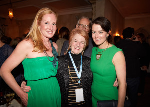 Greenwich International Film Festival Founders Colleen deVeer and Wendy Stapleton Reyes, with Avon Director of Development & Marketing Louisa Greene (center) (credit - Elaine Ubina)