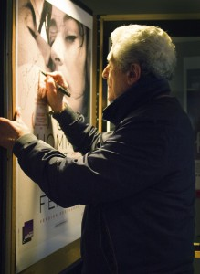 The Directors and Actors signed their posters, including Claude Lelouch... (credit - Chloe Olbach)